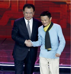 Jack Ma and Wang Jianlin