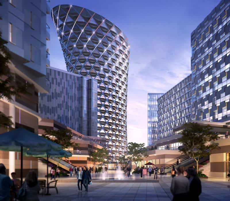 Broadway malyan wins bid for 25 storey chengdu office park for Broadway malyan
