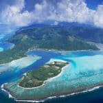 Bora Bora is surrounded by a protective reef -- at least as long as the icecaps hold up